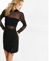 Express black lace-up mini skirt