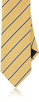 Barneys New York MEN'S STRIPED BASKET-WEAVE SILK NECKTIE