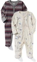 Old Navy Patterned Footed Sleeper 2-Pack for Baby
