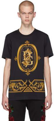 Dolce & Gabbana Black Sacro Logo T-Shirt