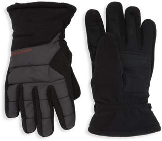 Hawke & Co Quilted Mixed-Media Gloves