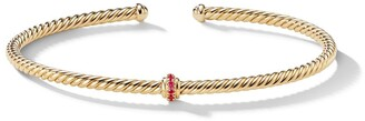 David Yurman 18kt yellow gold Renaissance Center Station ruby 3mm cuff