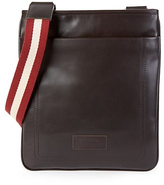 Bally Terino Stripe-Strap Leather Crossbody Bag