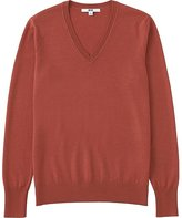 Uniqlo Women's Extra Fine Merino Wool V-Neck Sweater