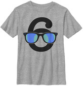 Fifth Sun Boys' Tee Shirts ATH - Athletic Heather 'Six' Sunglasses Tee - Boys