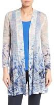 Nic+Zoe Women's Azure Linen Blend Cardigan