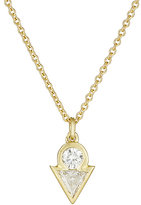 Tate Women's White Diamond Pendant Necklace-GOLD