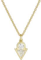 Tate Women's White Diamond Pendant Necklace