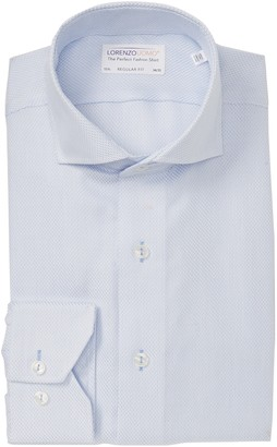 Lorenzo Uomo Textured Box Regular Fit Dress Shirt