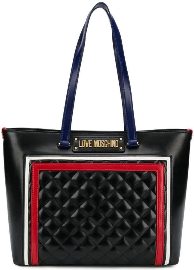 df6e6f111c Love Moschino Black Top Zip Bags For Women - ShopStyle UK