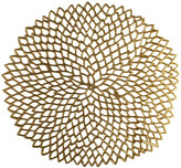 Chilewich Pressed Vinyl Dahlia Round Placemat - Brass