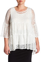 Hip Lacey Blouse (Plus Size)