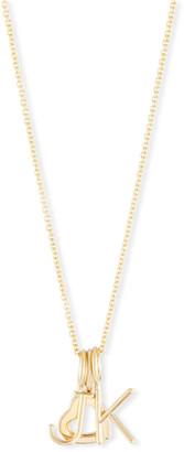 Sarah Chloe Mini Amelia Layered Initial Pendant Necklace