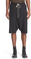 Rick Owens Men's Drop Crotch Cotton & Linen Shorts