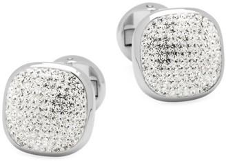 Cufflinks Inc. Ox & Bull Trading Co. Stainless Steel & Pave Preciosa Crystal Cufflinks
