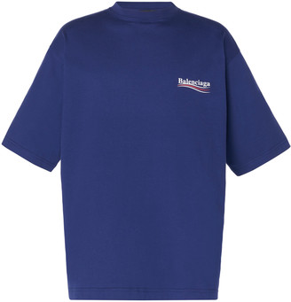 Balenciaga Logo-Embroidered Jersey T-Shirt