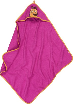 Playshoes Girl's Terry Hooded Towel The Mouse Bathrobe