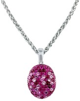 Effy Jewelry Effy 925 Splash Pink Sapphire Pendant, 3.49 TCW