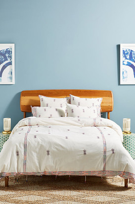 Anthropologie Embroidered Mariko Duvet Cover By in Assorted Size Q top/bed