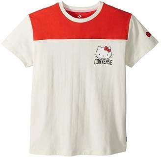 Converse Hello Kitty(r) Short Sleeve Football Tee (Egret) Women's T Shirt