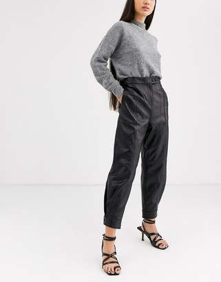 ASOS leather jogger