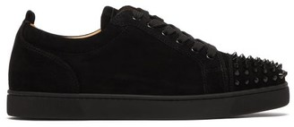 Christian Louboutin Louis Junior Suede Studded Trainers - Black