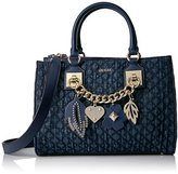 GUESS Hwdg6779060, Women's Top-Handle Bag, Blu (Denim), 12.5x18.5x25.5 cm (W x H L)