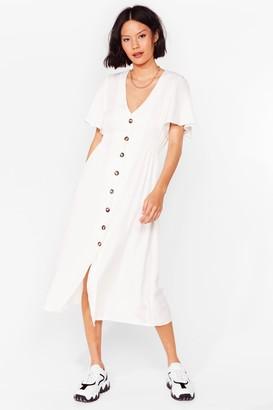 Nasty Gal Womens Same But-ton Different Midi Dress - Cream