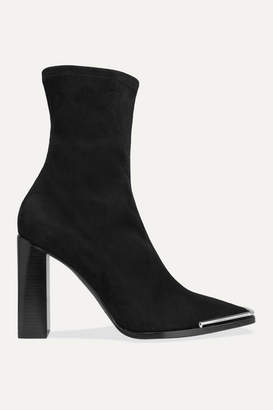 Alexander Wang Mascha Suede Sock Boots - Black