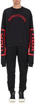 """Hood by Air Men's """"Remastered"""" Jersey Fleece Sweatshirt-BLACK"""
