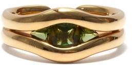 Fernando Jorge Trillion Tourmaline & 18kt Gold Ring - Yellow Gold