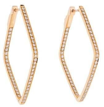 Anita Ko 18K Diamond Shaped Hoop Earrings