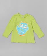 Flap Happy Lime Flirty Owl Tee - Infant, Toddler & Girls