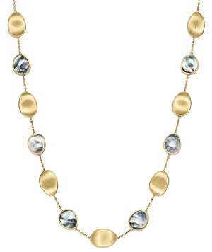 Marco Bicego 18K Yellow Gold Lunaria Black Mother-Of-Pearl Short Necklace, 16