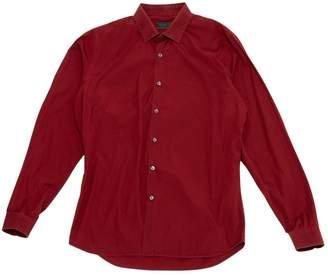 Prada Burgundy Cotton Shirts