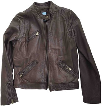 Barneys New York Brown Leather Leather Jacket for Women
