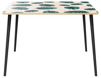 """Wrought Studioâ""""¢ Mershon Dining Table Wrought Studioa Table Top Color: Natural, Table Base Color: Black"""