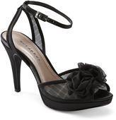 PeepToe Metaphor Women's Kate Black Peep-Toe Stiletto Heel