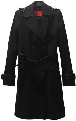 MANGO Blue Wool Coat for Women