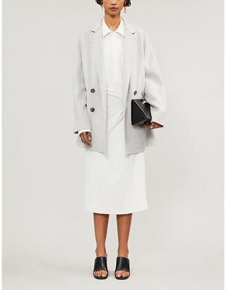 Joseph Milburn double-breasted wool and cashmere coat