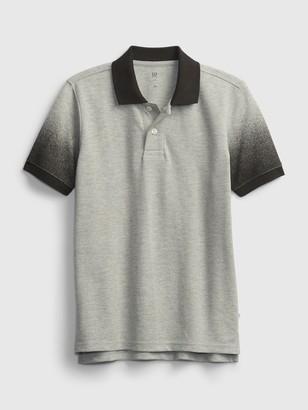 Gap Kids Dip-Dye Pique Polo Shirt Shirt