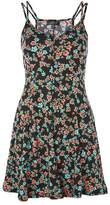 Topshop Spot & floral print swing dress