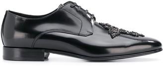 Dolce & Gabbana Cameron Swarovski cross derby shoes