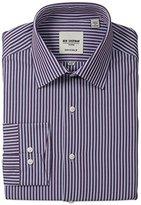 Ben Sherman Men's Slim Fit Bengal Stripe Spread Collar Dress Shirt