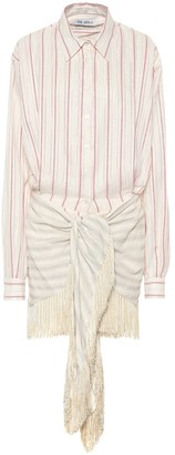 ATTICO Striped jacquard minidress