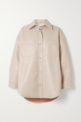 Nanushka Martin Vegan Leather Shirt - Cream