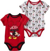 Disney Disney's Mickey Mouse Baby Boy 2-pk. Graphic & Print Bodysuits