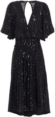 Maje Sequin-embellished Crepe Dress