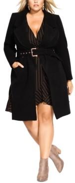 City Chic Trendy Plus Size Regal Coat