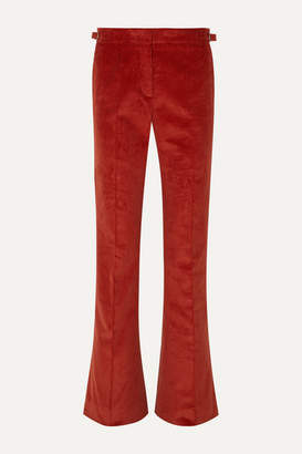 Gabriela Hearst Thompson Cotton-corduroy Flared Pants